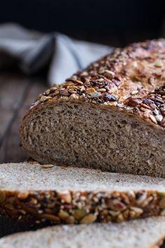 Seeded Whole Grain Breakfast Bread @hbharvest #WholeGrainsMonth @OldwaysPT #foodcalendar
