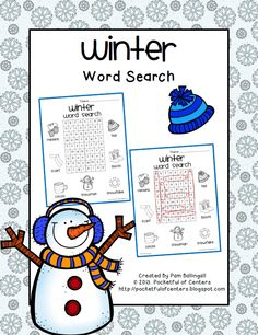 Celebrate+the+new+season+with+this+fun+Winter+Word+Search. Free From: Pocketful of Centers Speech Language Pathology, Speech And Language, Language Arts, Winter Word Search, Word Work Stations, Learning Activities, Teaching Ideas, Winter Words, Winter Parties