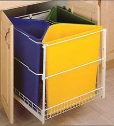 Pull-out home recycling center - need to build this!