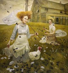 Andrea Kowch's Haunting Paintings of Rural Life | Hi-Fructose Magazine