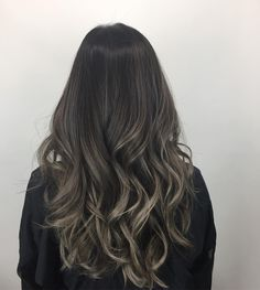 Long Wavy Ash-Brown Balayage - 20 Light Brown Hair Color Ideas for Your New Look - The Trending Hairstyle Balayage Ombré, Brown Hair Balayage, Brown Blonde Hair, Hair Color Balayage, Brunette Hair, Balyage On Black Hair, Ombre On Dark Hair, Ash Ombre, Dark Ash Blonde