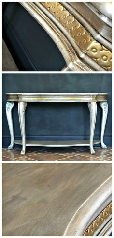 Artisan Enhancements retailer, Creative Finishes Studio used Pearl Plaster to create a gorgeous shimmery finish on this elegant sofa table! Isn't it beautiful?