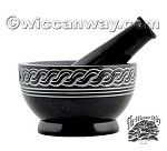 Celtic Design Mortar And Pestle, Soapstone