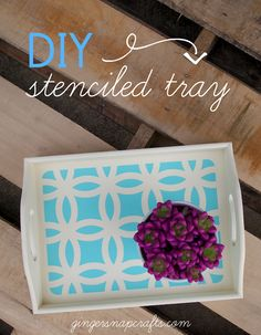 DIY Stenciled Tray with your Silhouette {tutorial}