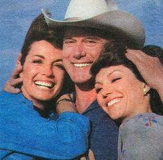 Linda Gray, Larry Hagman and Victoria Principal