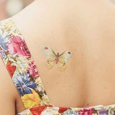 Butterfly tatoo ♥like the style/ colors