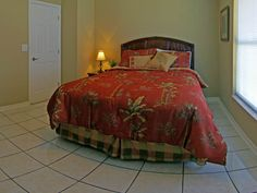 "Third bedroom features queen size bed and 26"" tv."