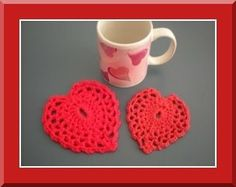 Feel the ♥ⓛⓞⓥⓔ♥ Coaster - Free Pattern (Intermediate)
