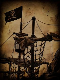 pirate ship (unrelated to POTC per se) Pirate Art, Pirate Life, Pirate Ships, Pirate Crafts, Pirate Woman, Images Pirates, Pirate Pictures, Bateau Pirate, Crow's Nest