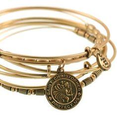 Alex and Ani St. Christopher Expandable Wire Bangle