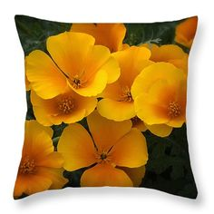 "Just Poppies  Throw Pillow 14"" x 14"""
