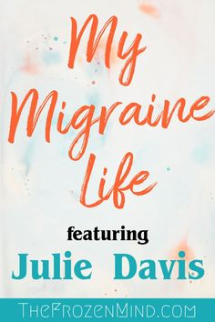 What is life like with Chronic Migraine? What treatments are available for Chronic Migraine? Are the new CGRP drugs for Migraine effective? Julie Davis shares her experience with Chronic Migraine with us. Migraine Triggers, Chronic Migraines, Migraine Relief, Chronic Fatigue, Chronic Illness, Chronic Pain, Pain Relief, Headache Remedies, Ninjas