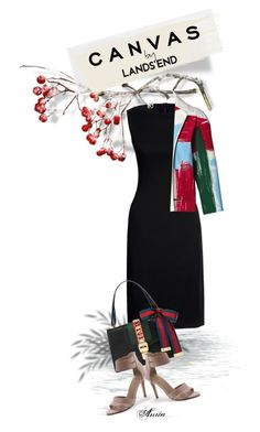 Paint Your Look With Canvas by Lands' End: Contest Entry by wodecai on Polyvore featuring polyvore fashion style Canvas by Lands' End Lands' End Gucci clothing