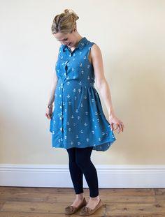 Grainline patterns alder shirt dress - big enough for bump with no alterations!