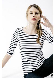 1120f4f5 Women's Striped Top | 3/4 Sleeve | Boatneck. Breton Stripe ShirtBreton  StripesNautical T ShirtsSaint ...