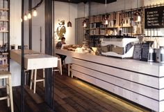 Bear Market Coffee, un bar in legno e acciaio in Irlanda disegnato da VAV architects - Elle Decor Italia
