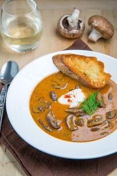 Hungarian Mushroom Soup: