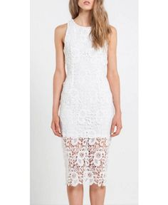 Mossman The Snakes And Ladders White Lace Dress