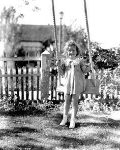 Shirley Temple at her bungalow on the 20th Century Fox Studio lot, 1930s.