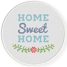 Cross Stitch Kits Charts Club Members Only: Sweet Home Cross Stitch Pattern - Sweet Home Cross Stitch Pattern Cross Stitch Art, Simple Cross Stitch, Modern Cross Stitch, Cross Stitch Designs, Cross Stitching, Cross Stitch Embroidery, Embroidery Patterns, Cross Stitch Patterns, Diy Embroidery
