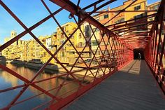 Bridge Over the Onyar River in Girona, Spain, Built by Gustave Eiffel, Was a Prelude to His Famous Paris Tower