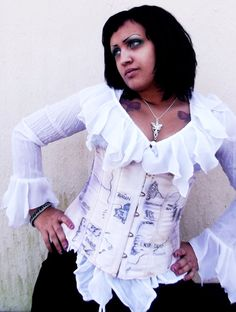 Map of Middle Earth Underbust Corset  Made to by CandyToxinDreads, $55.00