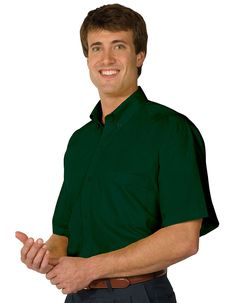 Edwards soft touch poplin shirt has a button down collar with matching buttons. One pocket on the left chest and a back box pleat. Enjoy fresh protection with AP-360™ antimicrobial fabric shield that prevents odor and ensures freshness. This easy care men's shirt is fade, wrinkle and shrink resistant.Stands up to demanding wear and is offered in a plethora of colors.