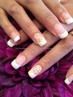 eye candy Nails & Training - Nails Gallery: White acrylic tips with squiggle freehand nail art by Elaine Moore on 30 March 2012 at 15:38