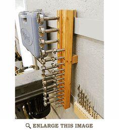 Hanging Forstner-Bit Holder Woodworking Plan