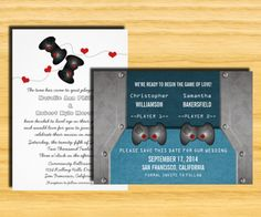 Dynamic Wedding Stationery has nerdy wedding invitations for gamers, techies, scientists, and more! Map Invitation, Wedding Invitation Templates, Wedding Stationery, Wedding Invitations, Invites, Wedding Planner, Pirate Wedding, Geek Wedding, Wedding Book