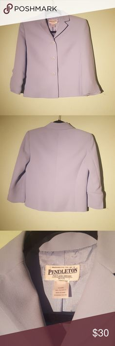 Vintage Baby Blue Blazer Perfect Conditon! 100% polyester. Puffed shoulders Pendleton Jackets & Coats Blazers