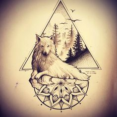 Change it so it's a stag, a line through the triangle and the mandala design in a circle around it. Nature, Harry Potter, and Gorgeous