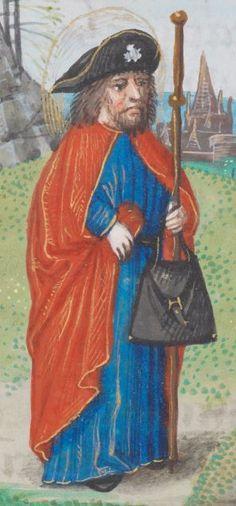 Stundenbuch Flandern, wahrscheinlich Brügge · um 1500 AF A28  Folio 197r Book Of Hours, Medieval Art, Character Creation, 14th Century, Pilgrimage, Renaissance, Knight, Folk, Head Coverings