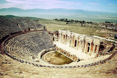 Theatre of the Ancient City of Hierapolis at Pamukkale, Turkey