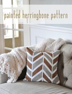 painted herringbone pattern <3