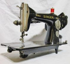 THIS RARE COLLECTIBLE SPECIAL EDITION 1932 SINGER 15-91 NICKEL PLATED SEWING MACHINE(AD481233) MADE AUG.23 IS IN VERY RESPECTABLE CONDITION. IT HAS A NICE LOOK WITH SOME PAINT DEFECTS (NOTHING MAJOR) AND SOME DECAL LOSS BUT FOR A 1932 MACHINE IT IS IN VERY RESPECTABLE CONDITION.   eBay!