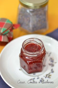 Casa, Coisas e Sabores: Presente de Natal: geleia de morango com lavanda