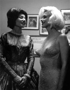 Marilyn Monroe and Maria Callas at JFK's birthday gala, 1962.