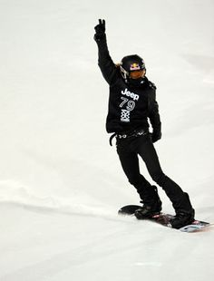 Shawn White. Ultra cool snowboarding.