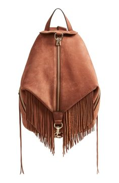 This classic Rebecca Minkoff backpack takes a vintage turn with lavishly textured leather and eye-catching fringe trim. Courtesy of the NSale!