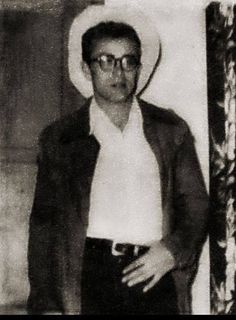 young james dean in cowboy hat