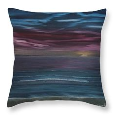 """Surreal Sunset Throw Pillow 14"""" x 14"""""""
