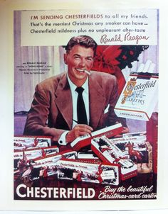 Our President is a big fan of vintage advertisements; check out this old Chesterfield cigarette ad featuring Ronald Reagan! Do you have any vintage ads hidden away somewhere?