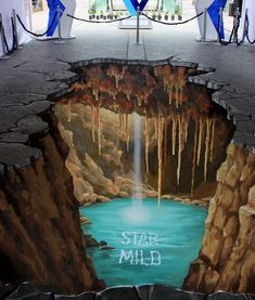 """Star Mild"" by Manfred Stader, who began street painting, pavement art during his art studies at the famous Städel Artschool in Frankfurt."