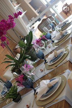 Decoração de mesa por Patrícia  Junqueira para receber bem