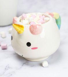 """Mug """"Elodie la Licorne""""  Cette mug est parfaite pour le petit-déjeuner ou pour le soir devant la télé"""