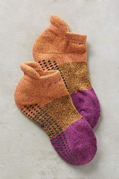 Colorblock Grip Socks