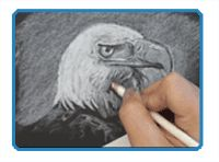 Drawing With White Material on Black Paper - Repin this.