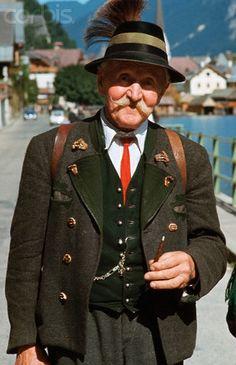 Portrait of an Elderly Man in Traditional Austrian Dress