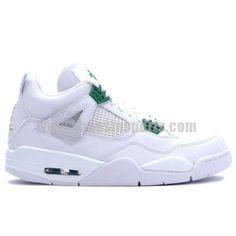 e73770c51688b7 Air Jordan 4 Retro Womens White Chrome Classic Green from Reliable Big  Discount!